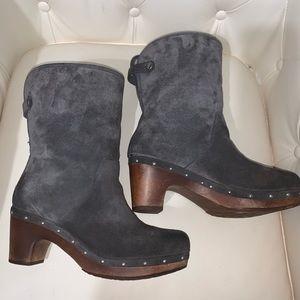 Ugg Clog Suede Boots